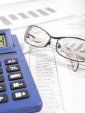 Rapporto di finanza fotografia stock