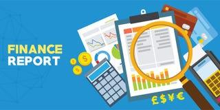 Rapporto di finanza ed analisi finanziaria Immagini Stock