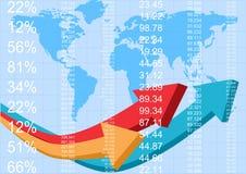 Rapporto di finanze illustrazione di stock