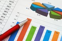 Rapporto di finanze Fotografia Stock Libera da Diritti