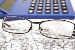 Rapporto di finanze Immagini Stock Libere da Diritti