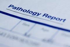 Rapporto di patologia fotografie stock libere da diritti