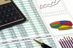 Rapporto di vendite Immagine Stock
