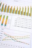 Rapporto di vendite Fotografie Stock