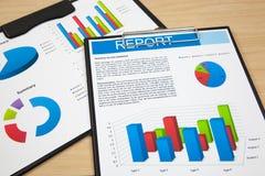 Rapporto finanziario fotografia stock libera da diritti