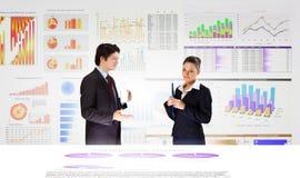 Rapporto finanziario Immagine Stock