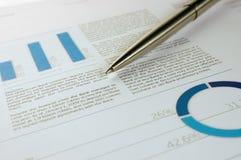 Rapporto finanziario annuale Fotografia Stock Libera da Diritti