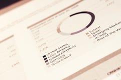 Rapporto finanziario annuale Immagini Stock Libere da Diritti