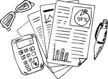 Rapporto impreciso di finanza e di contabilità royalty illustrazione gratis