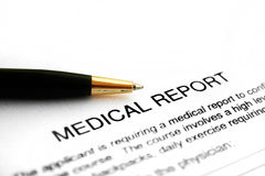 Rapporto medico Fotografia Stock Libera da Diritti