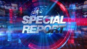 Rapporto speciale - animazione 4K di titolo dei grafici di radiodiffusione