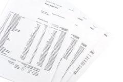Rapports de compte de marché monétaire Images stock