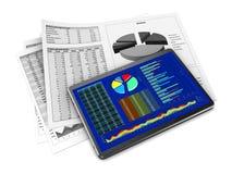 Rapports de gestion Images stock