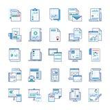 Rapports de gestion, analyse statistique, rapport financier, vecteurs plats illustration de vecteur