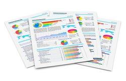 Rapports financiers Photos libres de droits