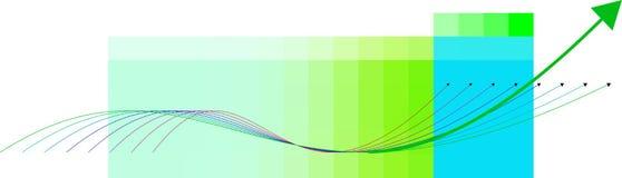 Rappresenta graficamente l'illustrazione - l'analisi finanziaria Immagini Stock