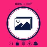 Rappresenta l'icona di simbolo Fotografie Stock