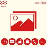 Rappresenta l'icona di simbolo Fotografia Stock