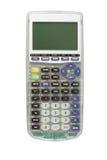Rappresentando graficamente calcolatore isolato Fotografie Stock
