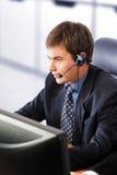 Rappresentante amichevole di servizio di assistenza al cliente Immagini Stock