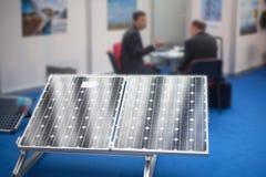 Rappresentante del pannello solare Immagine Stock