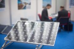 Rappresentante del pannello solare Immagini Stock
