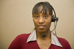 Rappresentante del servizio clienti dell'afroamericano immagini stock
