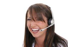 Rappresentante di servizio di assistenza al cliente Fotografia Stock