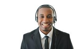 Rappresentante Smiling di servizio di assistenza al cliente Fotografie Stock Libere da Diritti