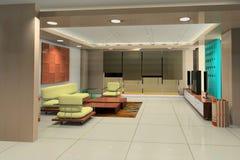 rappresentazione 3D dell'interiore domestico Fotografie Stock