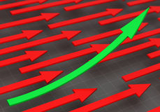 rappresentazione 3D delle frecce Fotografia Stock Libera da Diritti