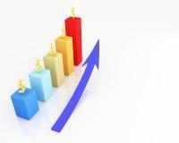rappresentazione 3D per il grafico commerciale Immagini Stock