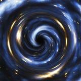 Rappresentazione artistica di un buco nero cosmico illustrazione di stock