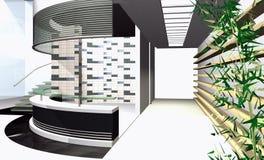 Rappresentazione astratta 3D Immagine Stock