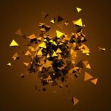 Rappresentazione astratta 3D dei triangoli di volo Fotografia Stock Libera da Diritti