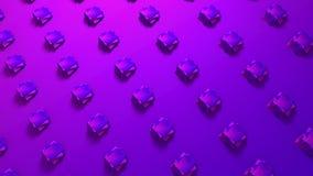 Rappresentazione astratta 3d del fondo geometrico di forme dei cubi Animazione generata da computer del ciclo fondo moderno per royalty illustrazione gratis