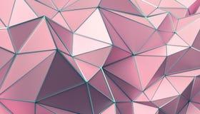 Rappresentazione astratta 3D del fondo poligonale Immagine Stock Libera da Diritti