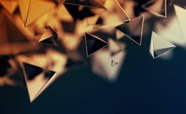 Rappresentazione astratta 3D del pilotare le forme poligonali Fotografia Stock Libera da Diritti