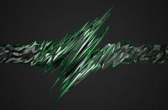 Rappresentazione astratta 3D della forma poligonale Fotografie Stock Libere da Diritti