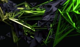 Rappresentazione astratta 3D della forma poligonale Fotografie Stock