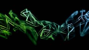 Rappresentazione astratta 3D della forma poligonale Fotografia Stock