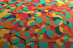 Rappresentazione astratta 3D della superficie colorata Fotografia Stock Libera da Diritti