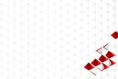 Rappresentazione astratta 3d della superficie di bianco Fotografia Stock
