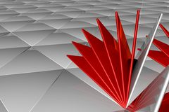 Rappresentazione astratta 3d della superficie di bianco Immagine Stock