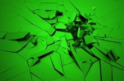 Rappresentazione astratta 3D della superficie incrinata Fotografie Stock Libere da Diritti