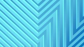 Rappresentazione astratta 3d delle forme geometriche colorate Animazione generata da computer del ciclo Reticolo geometrico illustrazione vettoriale