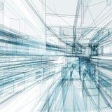 Rappresentazione astratta del fondo 3d di architettura Fotografie Stock