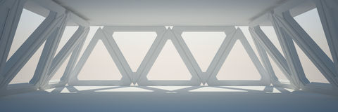 Rappresentazione bianca di interior design 3D Fotografie Stock