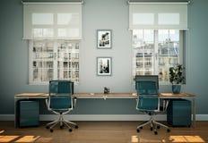 Rappresentazione bianca moderna di interior design 3d del Ministero degli Interni Fotografia Stock