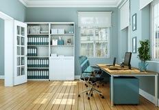 Rappresentazione bianca moderna di interior design 3d del Ministero degli Interni Immagine Stock